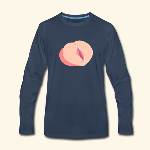 Peach - Men's Premium Long Sleeve T-Shirt