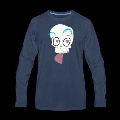Pull out the tongue skull - Men's Premium Long Sleeve T-Shirt
