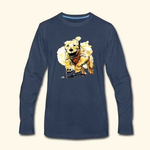 oil dog - Men's Premium Long Sleeve T-Shirt