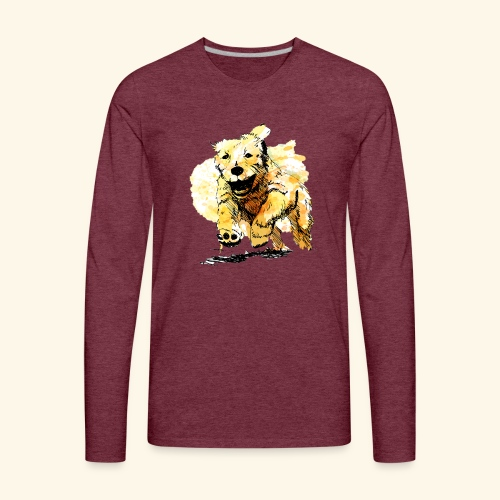 oil dog - Men's Premium Long Sleeve T-Shirt