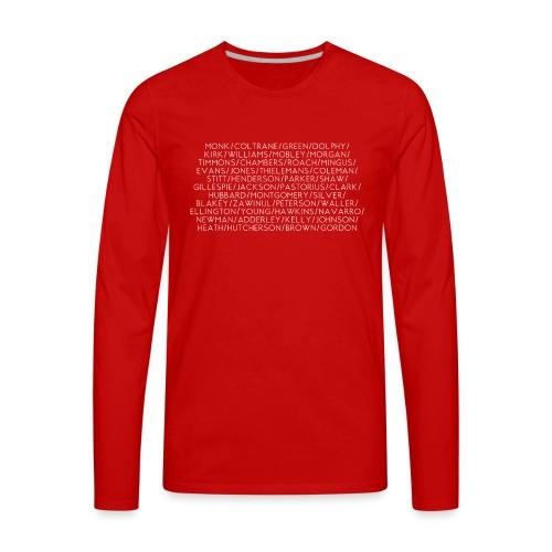 Jazz Greats 1 TShirt (White Lettering) - Men's Premium Long Sleeve T-Shirt