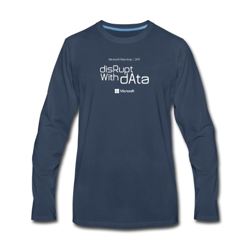 Disrupt with Data white on black or grey blue - Men's Premium Long Sleeve T-Shirt