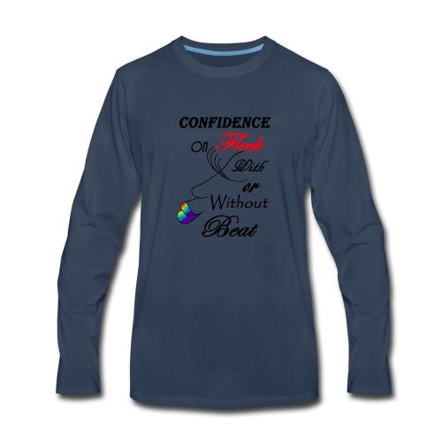 With or Without Beat SpilledPaint- Asphalt - Men's Premium Long Sleeve T-Shirt