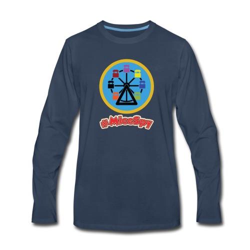 Mickeys Fun Wheel Explorer Badge - Men's Premium Long Sleeve T-Shirt