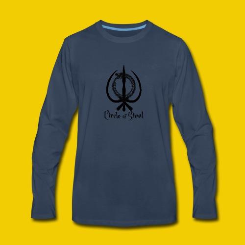 circle_of_steel_logo21 - Men's Premium Long Sleeve T-Shirt