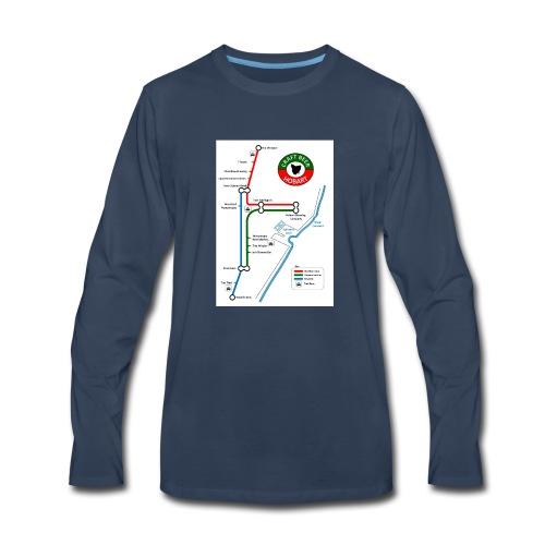 Craft Beer Lines Hobart - Men's Premium Long Sleeve T-Shirt
