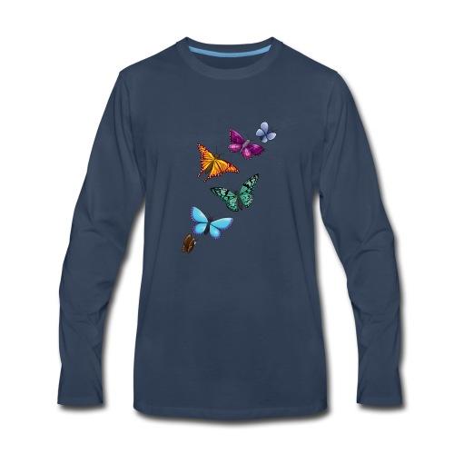 butterfly tattoo designs - Men's Premium Long Sleeve T-Shirt