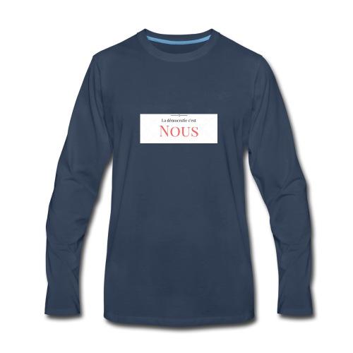 We are the democracy - Men's Premium Long Sleeve T-Shirt