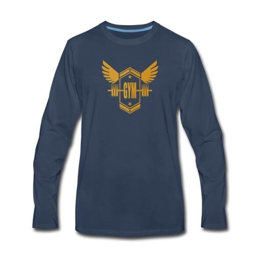 Logo GYM - Men's Premium Long Sleeve T-Shirt
