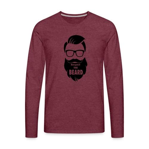 Respect the beard 08 - Men's Premium Long Sleeve T-Shirt