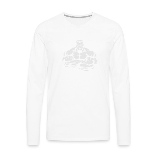 An Angry Bodybuilding Coach - Men's Premium Long Sleeve T-Shirt