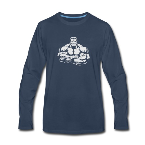 An Angry Bodybuilding Coach - Men's Premium Long Sleeve T-Shirt