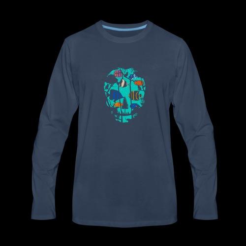 Underwater Skull - Men's Premium Long Sleeve T-Shirt