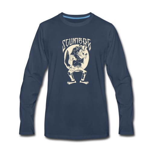 The wolf will hit you - Men's Premium Long Sleeve T-Shirt