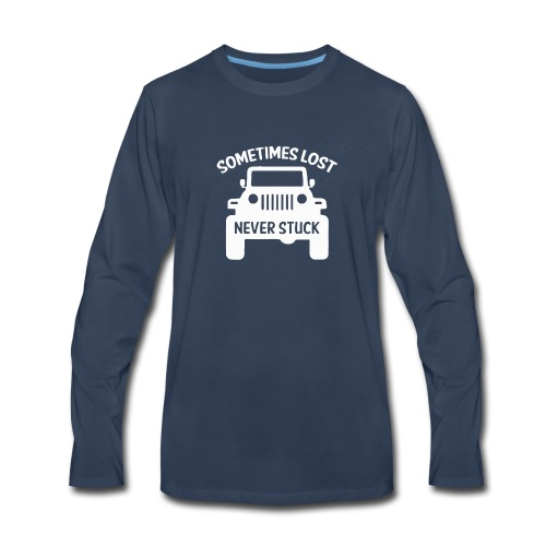 Something never stuck Jeep - Men's Premium Long Sleeve T-Shirt