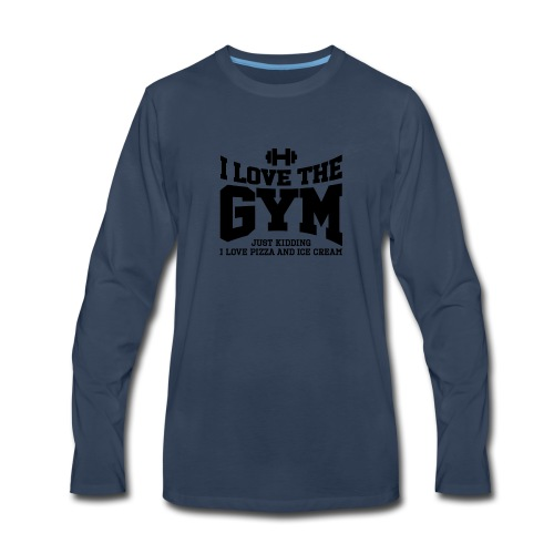 I love the gym - Men's Premium Long Sleeve T-Shirt