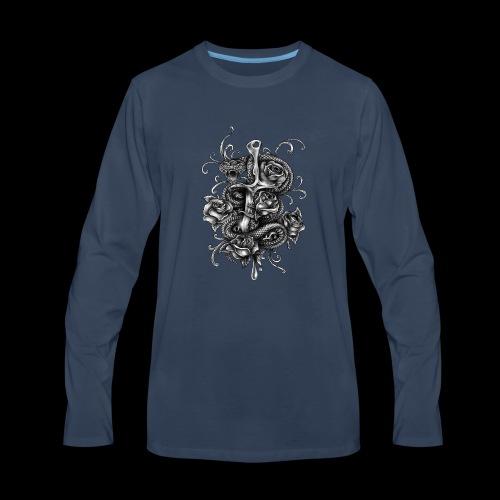 Dagger And Snake - Men's Premium Long Sleeve T-Shirt