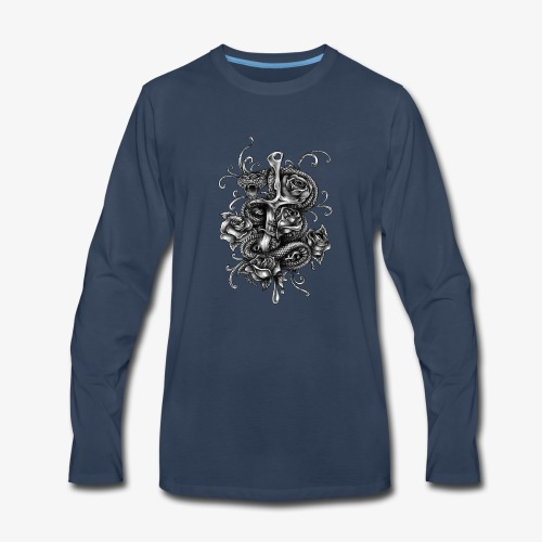 Dagger And Snake - Men's Premium Long Sleeve T-Shirt