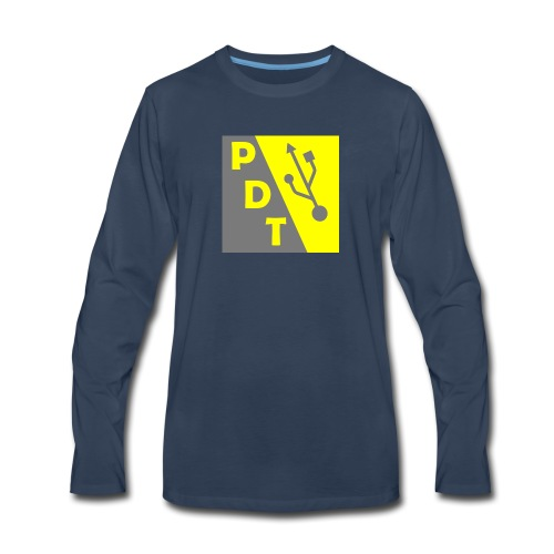 PDT Logo - Men's Premium Long Sleeve T-Shirt