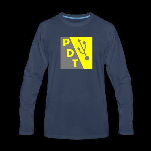 PDT Logo - Men's Premium Long Sleeve T-Shirt