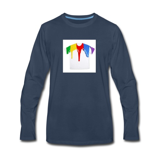 tshirt printing for kids paint design 100683 - Men's Premium Long Sleeve T-Shirt
