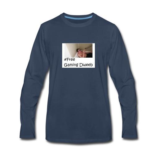#FreeGamingDweeb - Men's Premium Long Sleeve T-Shirt