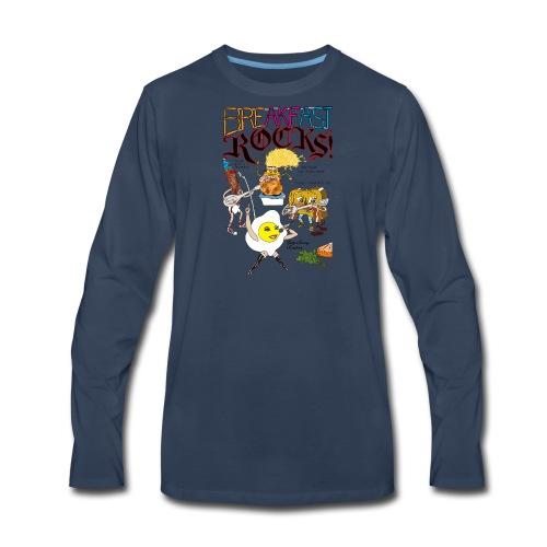 Breakfast Rocks! - Men's Premium Long Sleeve T-Shirt