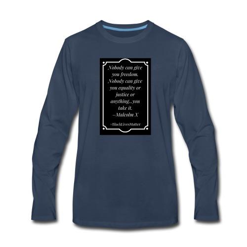 Black Lives Matter Malcolm X - Men's Premium Long Sleeve T-Shirt