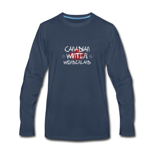 Canadian Winter Wonderland - Men's Premium Long Sleeve T-Shirt