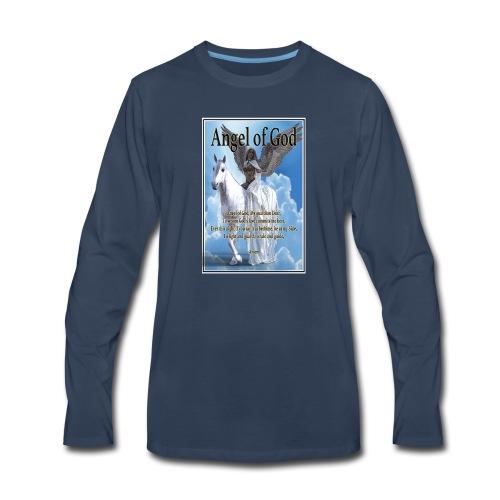 Angel of God, My guardian Dear (version with sky) - Men's Premium Long Sleeve T-Shirt