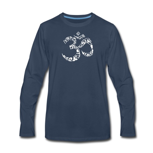 Symbol out of Yoga Poses - Men's Premium Long Sleeve T-Shirt