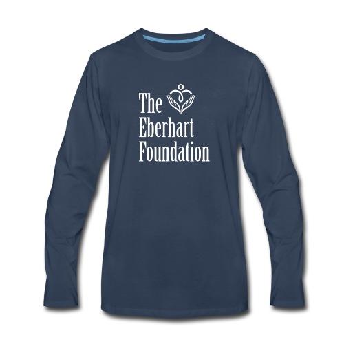 The Eberhart Foundation square logo white - Men's Premium Long Sleeve T-Shirt