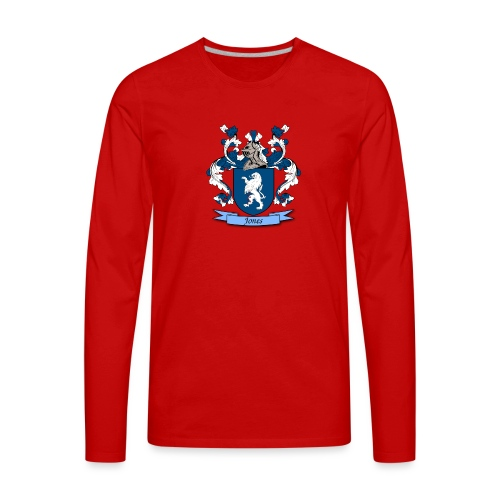 Jones Family Crest - Men's Premium Long Sleeve T-Shirt
