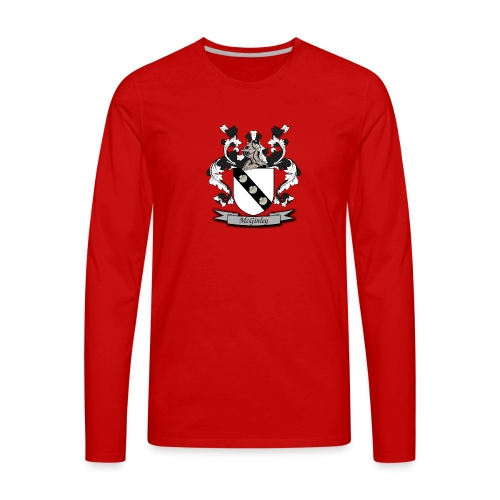 McGinley Family Crest - Men's Premium Long Sleeve T-Shirt