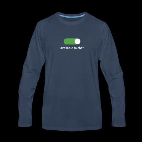 Available to chat Icon Printed Collection - Men's Premium Long Sleeve T-Shirt