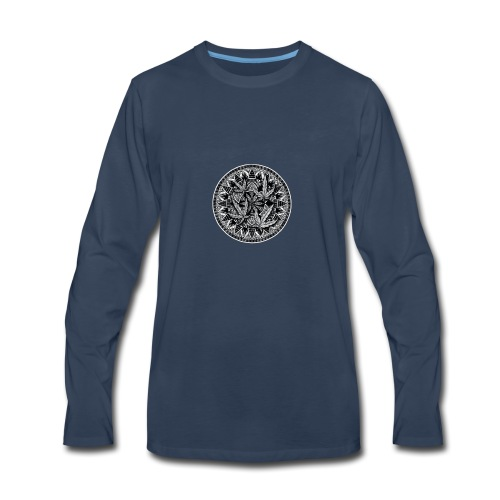 Weed Leaf Design - Men's Premium Long Sleeve T-Shirt