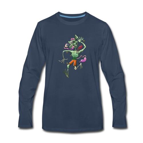 Zombie in Trouble Falling Apart - Men's Premium Long Sleeve T-Shirt