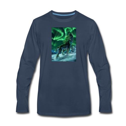 Painting Art Wolves Aurora 535561 736x1024 - Men's Premium Long Sleeve T-Shirt