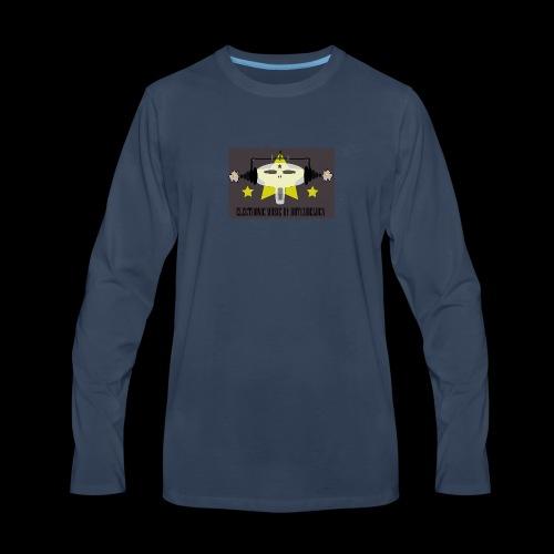 Butch DeLuca Music Skull w/ Headphones - Men's Premium Long Sleeve T-Shirt