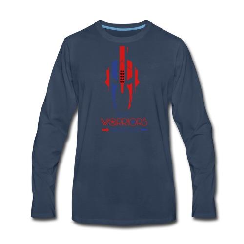 Real Warriors Bleed Blue tshirt. Limited Edition!! - Men's Premium Long Sleeve T-Shirt