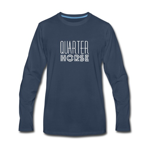 qh logo white png - Men's Premium Long Sleeve T-Shirt