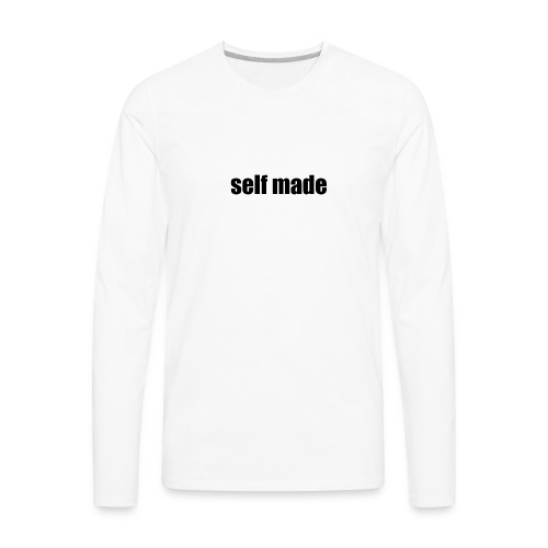self made tee - Men's Premium Long Sleeve T-Shirt