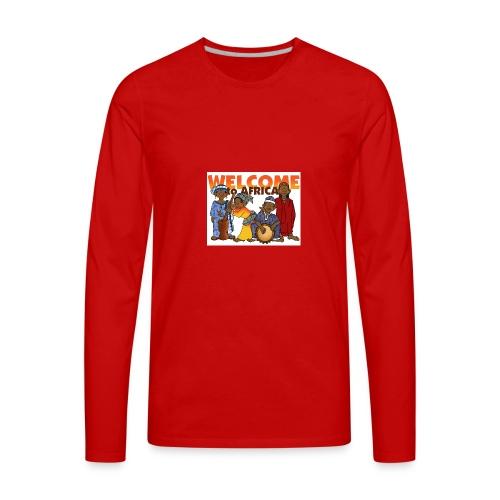african welcome you - Men's Premium Long Sleeve T-Shirt
