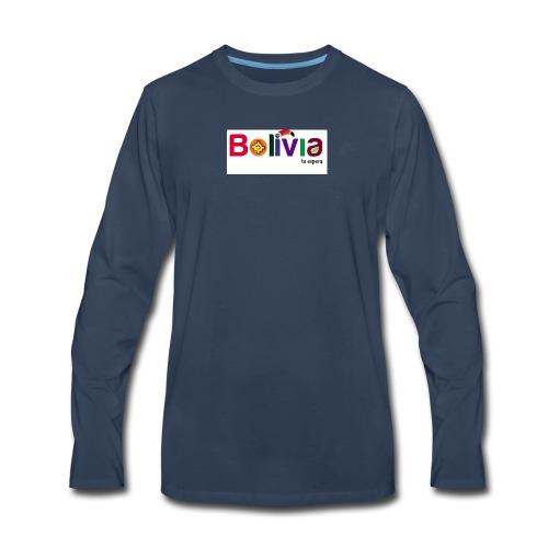 Bolivia te espera - Men's Premium Long Sleeve T-Shirt