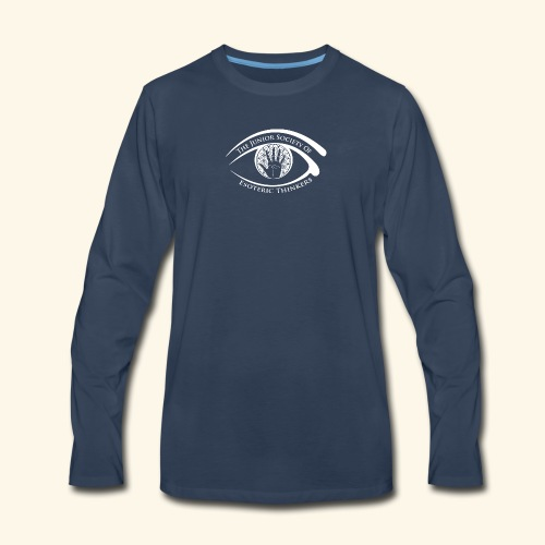 Society of Esoteric Thinkers white logo - Men's Premium Long Sleeve T-Shirt