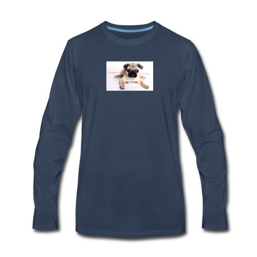 be a super pug savage merch - Men's Premium Long Sleeve T-Shirt