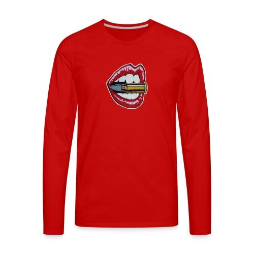 Bullet Lips - Men's Premium Long Sleeve T-Shirt