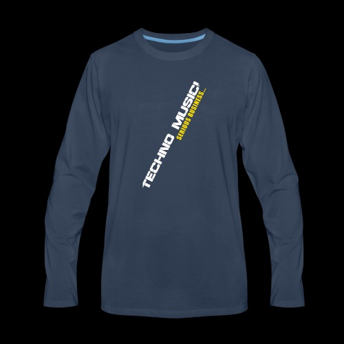 Techno Music - Men's Premium Long Sleeve T-Shirt