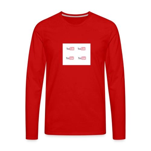 youtube_x4 - Men's Premium Long Sleeve T-Shirt