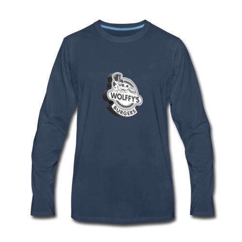 Wolffy's Hamburgers - Men's Premium Long Sleeve T-Shirt